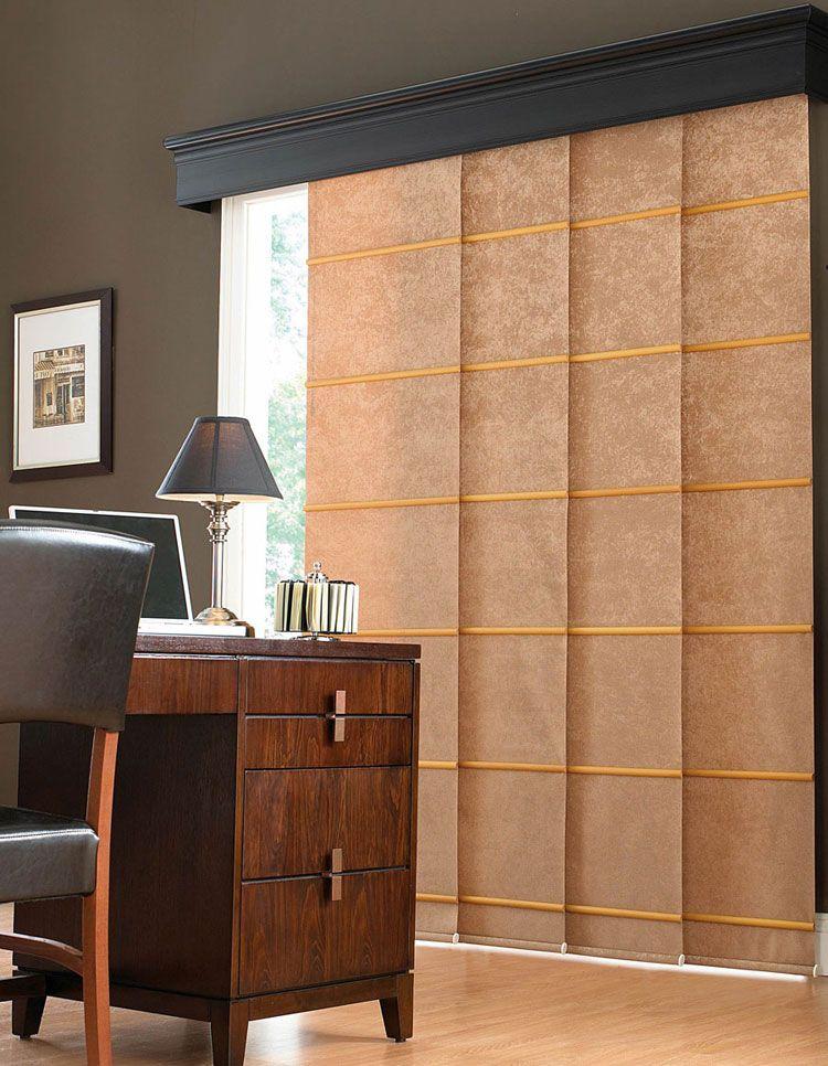 50 esempi di tende a pannello moderne per interni windows curtains blinds pallet home decor - Tende a pannello design ...