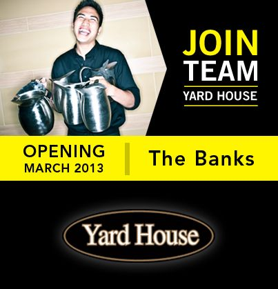 The Last Two Days To Apply To Yardhouse At Thebanks In Cincinnati Are 3 1 And 3 2 Download An Application And Come By The Restaurant House Restaurant Apply Online Job Opening