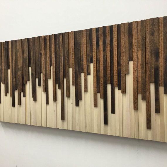 Modern Wood Art Living Room Decor Ideas