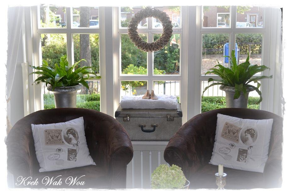 op de vensterbank  Vensterbank ideeën  Pinterest