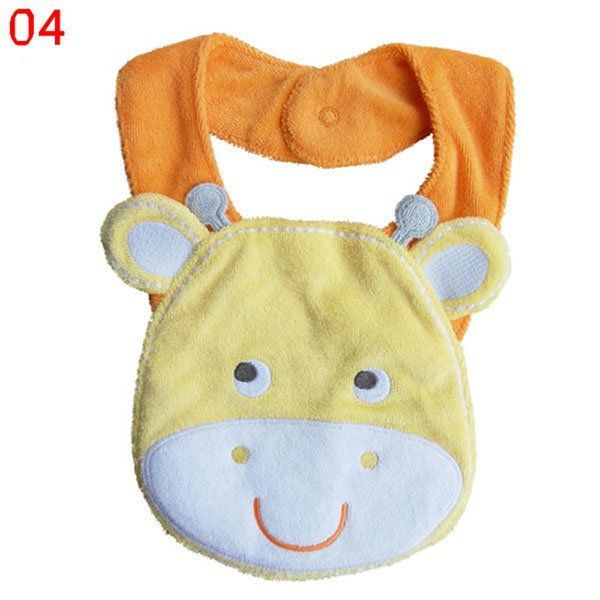 Cotton Animals Infant Baby Kids Girl Boy Saliva Towel Waterproof Lunch Bibs