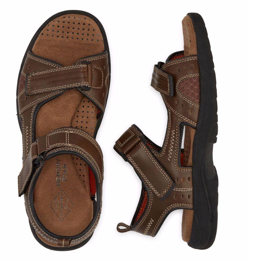 d19ff354f845 Kids · St Johns Bay Mansel Mens Strap Sandals Memory Foam Brown size 13 NEW  https
