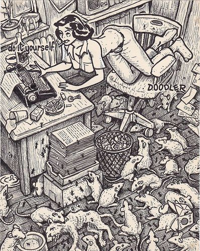 This artist takes these silly doodles and makes themesome david jablow taking do it yourself doodler pads for doodling naked women and solutioingenieria Choice Image