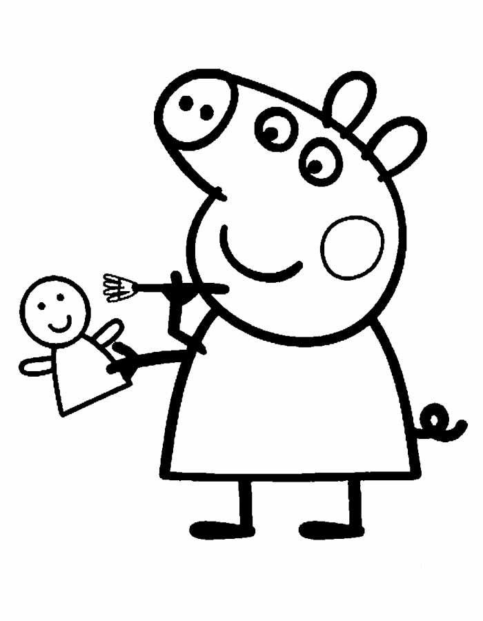 Dibujo colorear Pepa Pig - 1 | dibujos para cakes | Pinterest ...