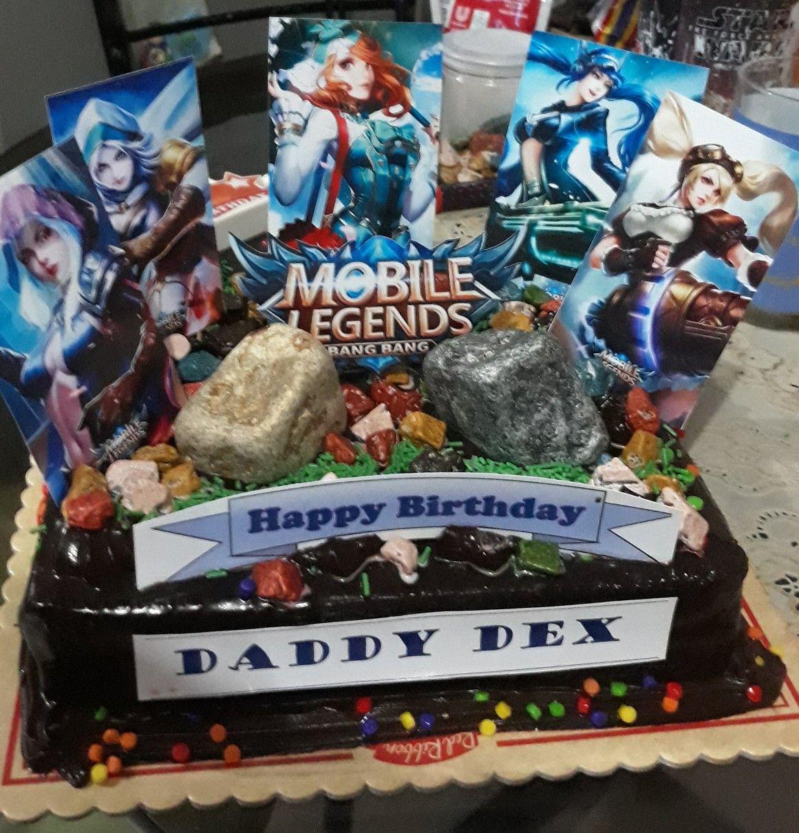 Mobile Legends Themed Cake Mobilelegends Mobilelegendscake Happy Birthday Daddy Mobile Legends Birthday Cake Kids