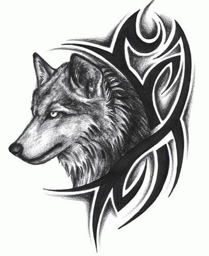 tribal wolf tattoo | трайбл тату, татуировка волк, wolf tribal