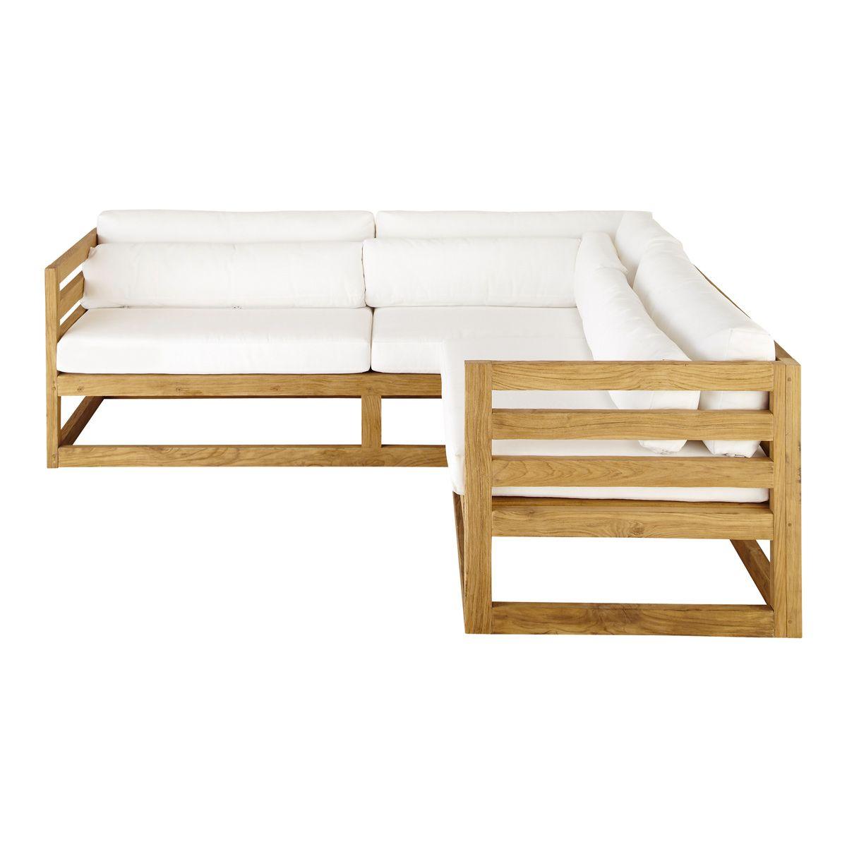 3/4 seater teak garden corner sofa | Teak, Corner and Garden sofa