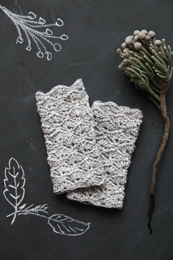 Free Pattern Crejjtion, Chunky Fingerless Gloves | { Crochet ...