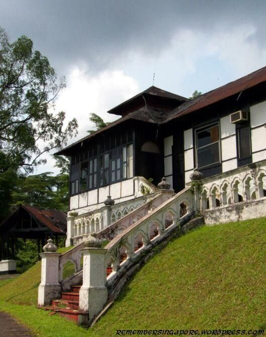 Abandoned house at the top of a small hill on gallop road in singapore it