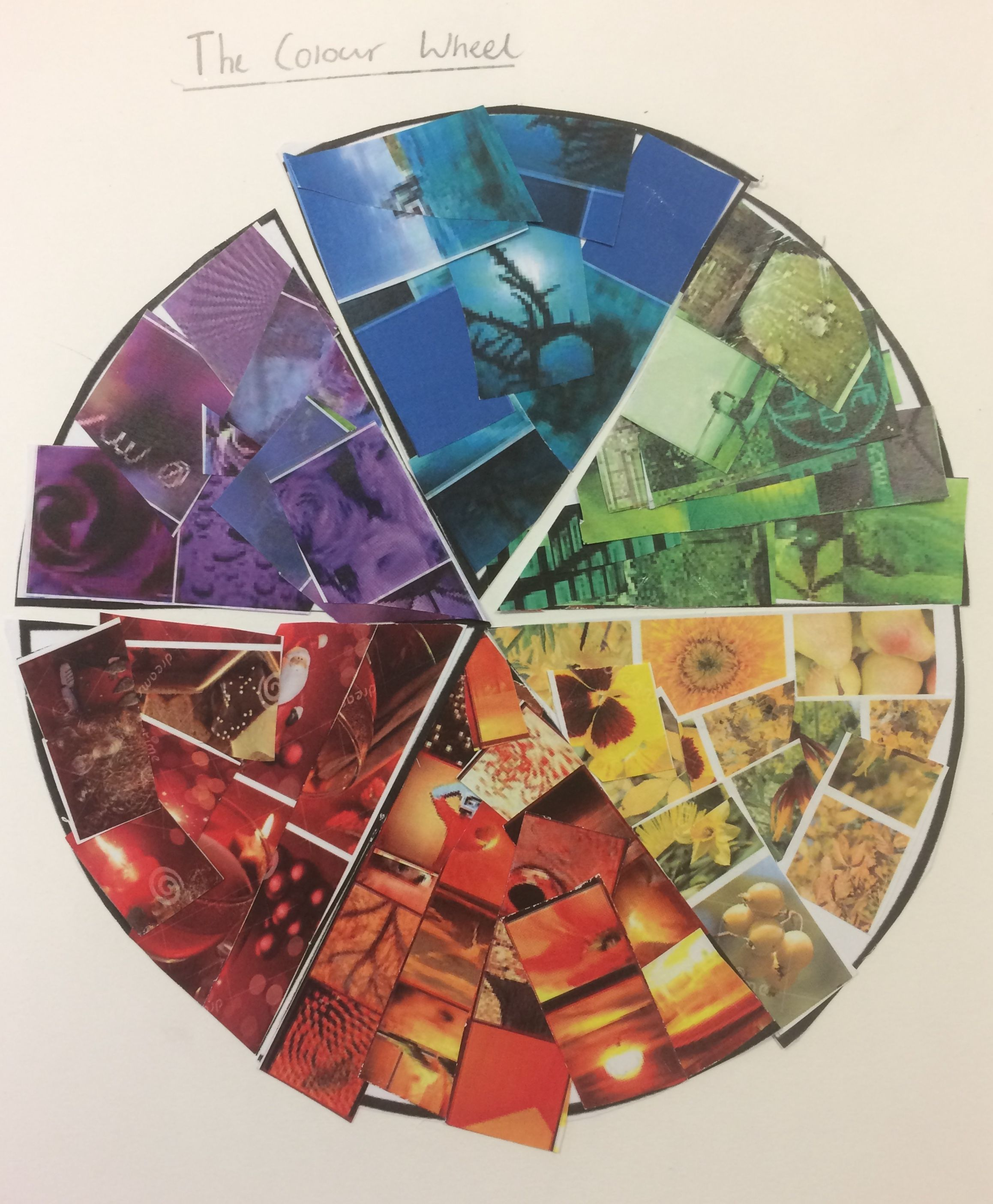 Christian Collage Colour Wheel Homework Task For The Y8 Fauvism
