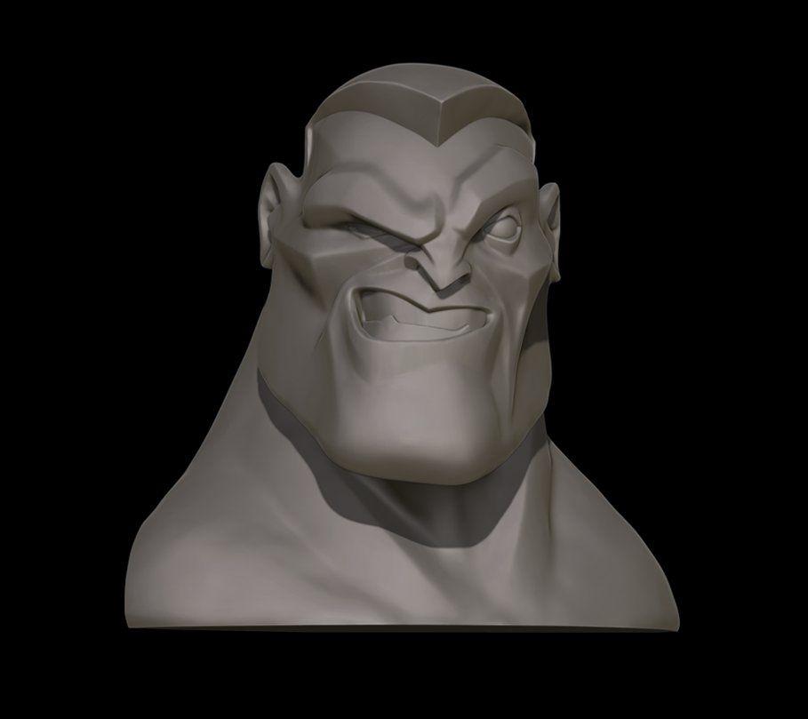 ArtStation - Cartoon 3D head, Łukasz Żukowski | green | Pinterest ...