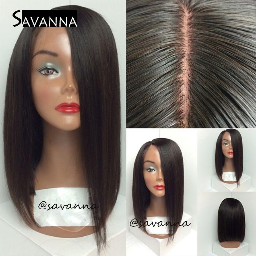 side part human hair wigs   short bob haircut brazilian