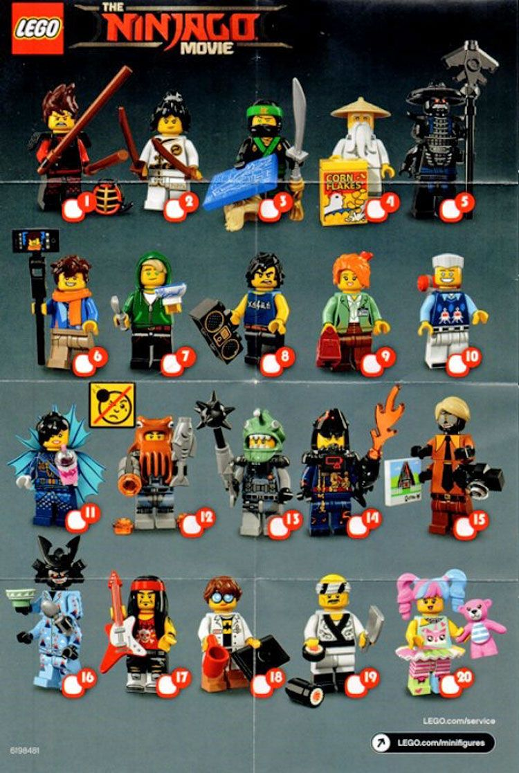 71019: LEGO Minifigures Ninjago Movie checklist | LEGO ...