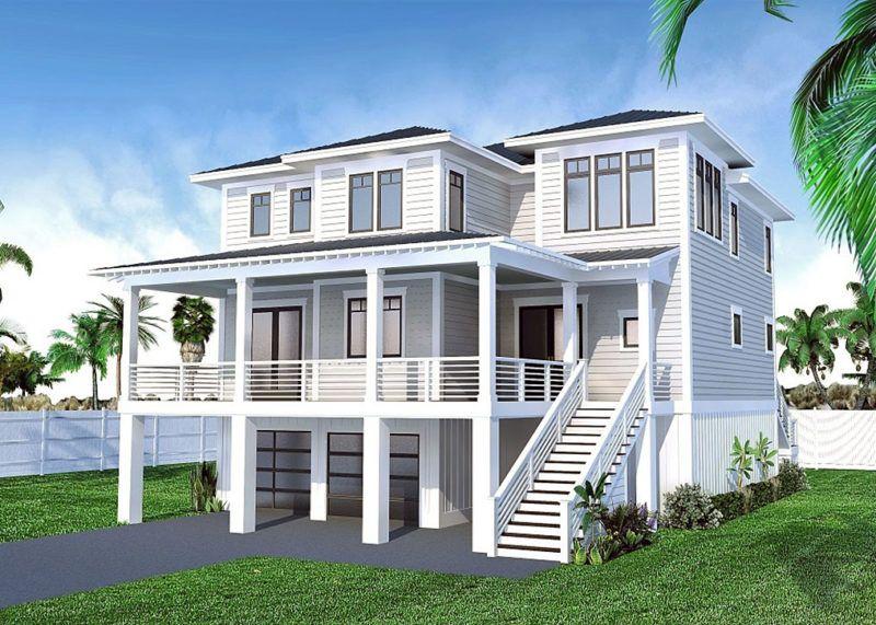 Aaron s Beach House Coastal House Plans from Coastal Home Plans
