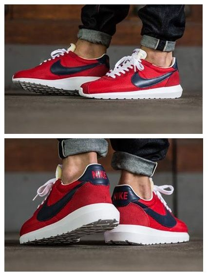 nike roshe ld-1000 red and white trainers men