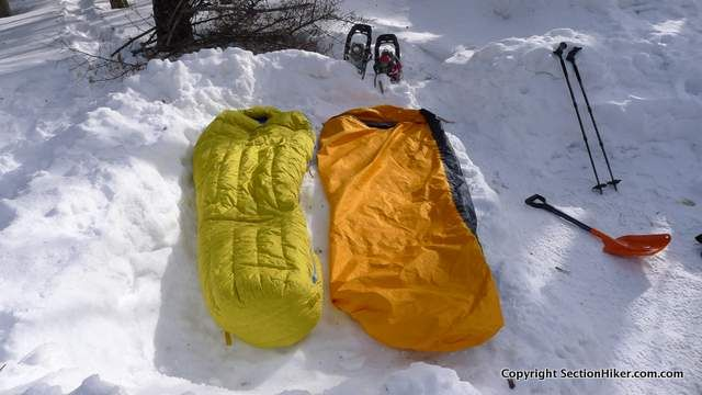Is it Better to Buy a Sleeping Bag with a Gore-Tex Shell or to Use a Bivy Sack? - http://sectionhiker.com/sleeping-bag-gore-tex-shell/