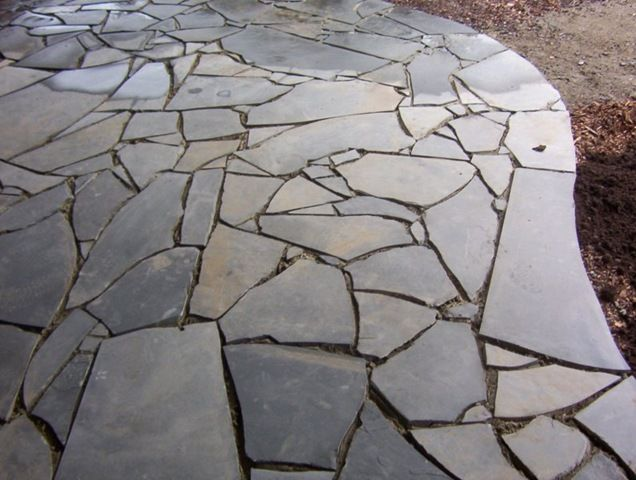 From Broken Paving Stones...ask Stores If They Have Any And Lay Them