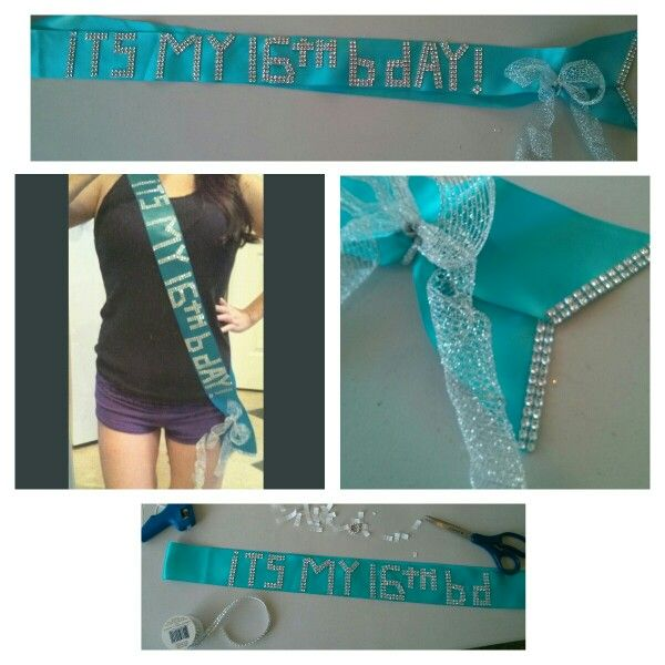 DIY Birthday Sash For $5! Use Wide Satin Ribbon, At Least