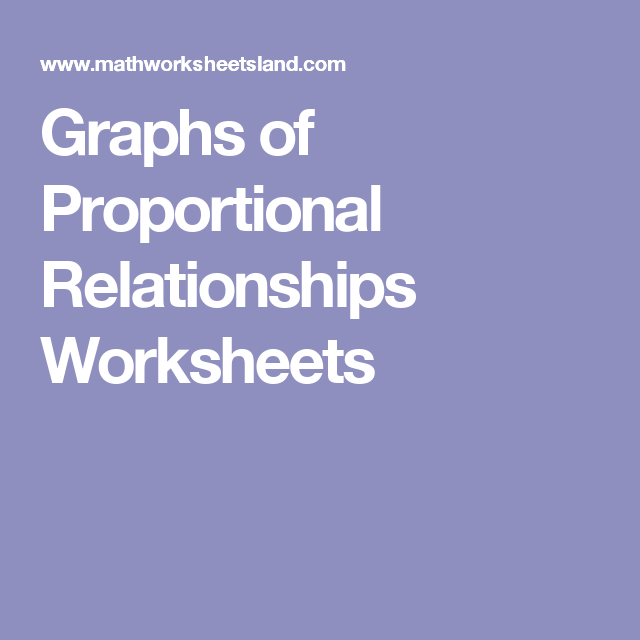 Graphs of Proportional Relationships Worksheets – Proportional Worksheets