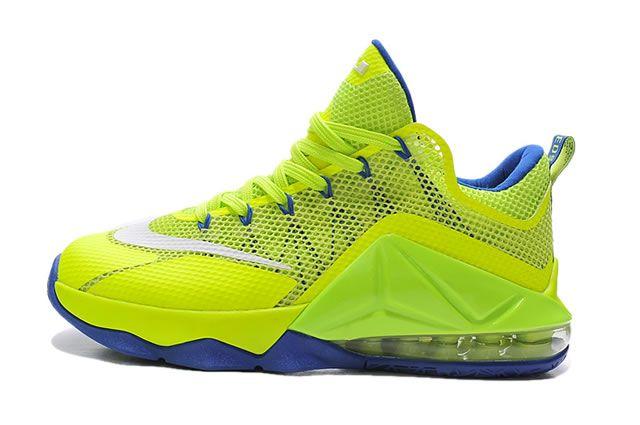 Nike Lebron James 12 Low PRM Mens Shoes Green Blue