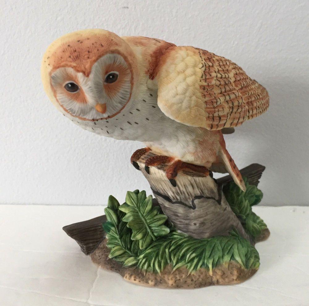 Lenox Fine Porcelain American Barn Owl Garden Bird Series Figurine ...