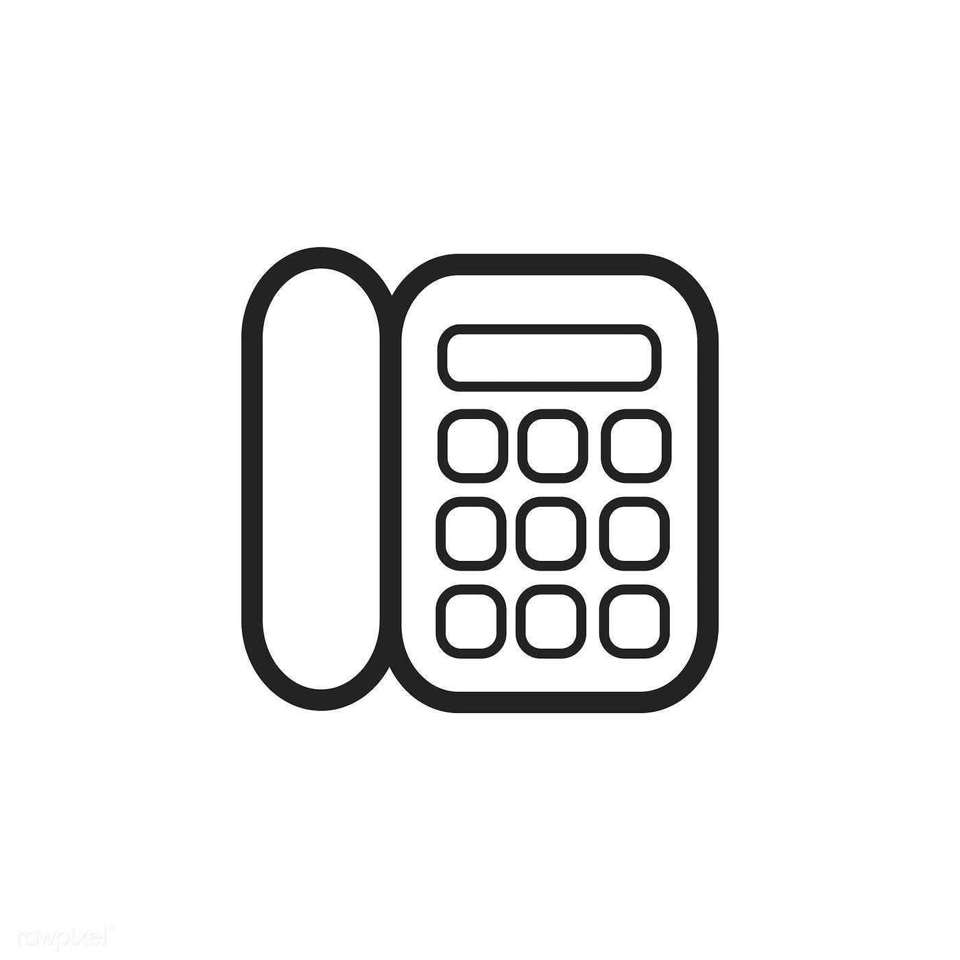 Landline Phone Icon Vector Free Image By Rawpixel Com Phone Icon Vector Free Icon