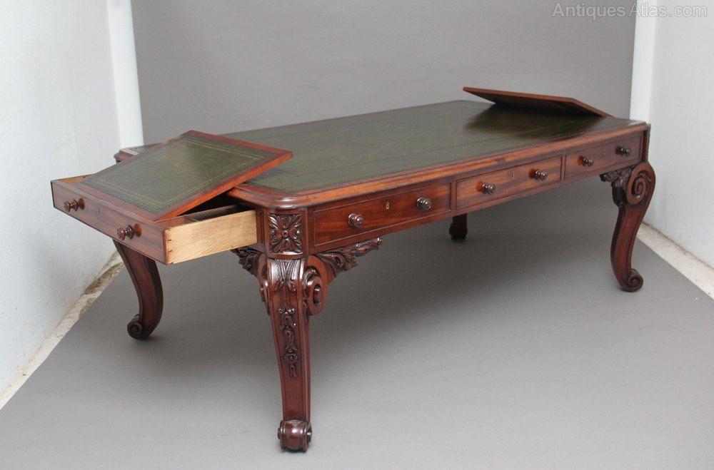 Superb Quality Large 19th Century Mahogany Desk Mahogany Desk