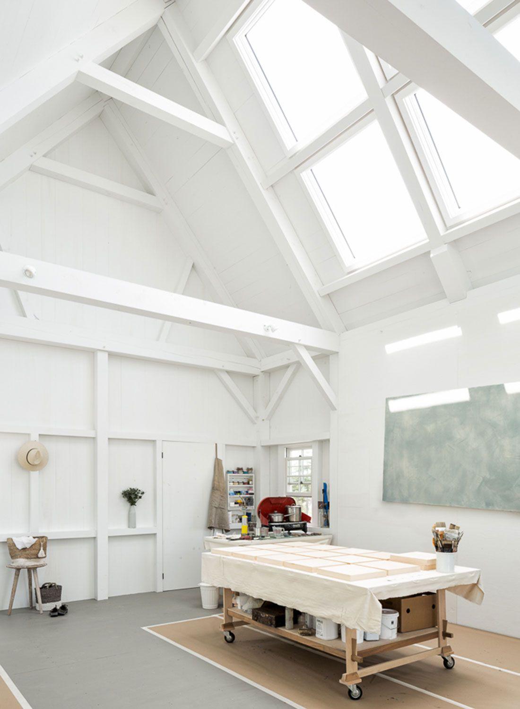 Houses and Barns | Timber frame barn artist studio | Garage Workshop ...