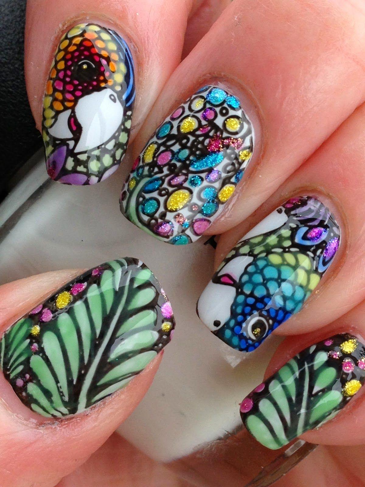 Parrots! | Nails, nails, nails #8 | Pinterest | OPI, Infinity nails ...