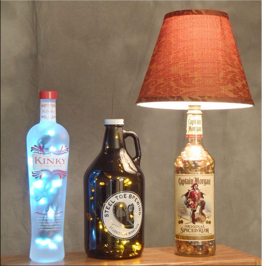 Cadeau Creatief met flessen verlichte fles