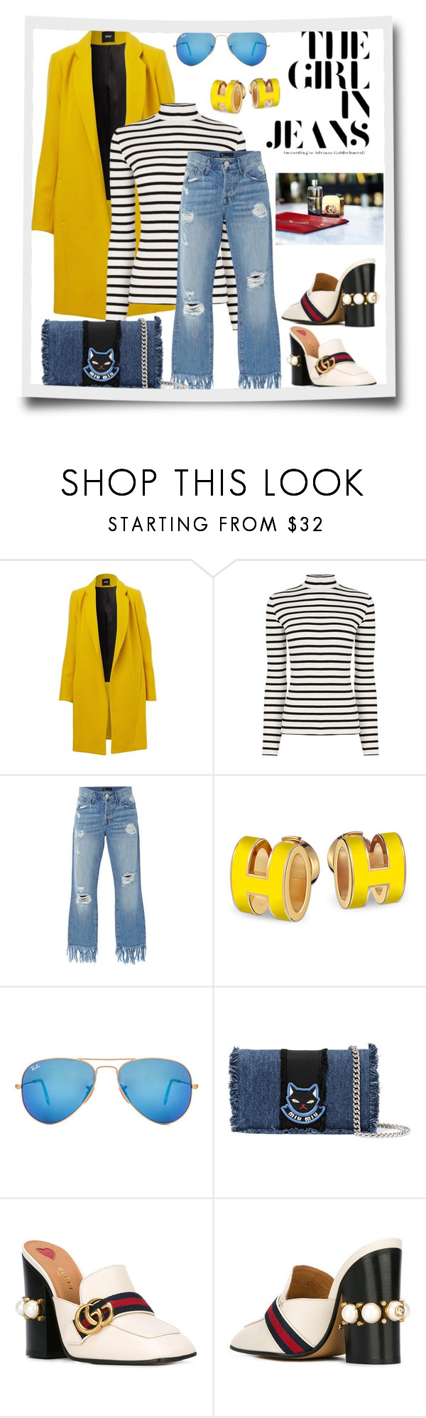 """""""The Girl In Jeans"""" by sherryphoenix ❤ liked on Polyvore featuring Oasis, 3x1, Ray-Ban, Miu Miu and Gucci"""