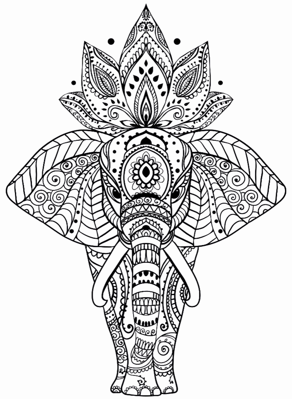 Coloring Pages Zentangle Animals Unique Elephant Mandala Coloring Pages Luxury Free Elephant In 2020 Mandala Coloring Pages Elephant Coloring Page Mandala Coloring