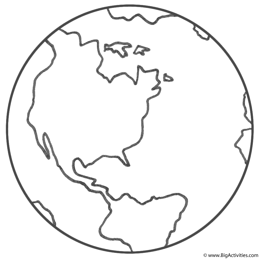 Planet Earth Coloring Page Earth Day In 2020 Earth Coloring Pages Planet Coloring Pages Planet Colors