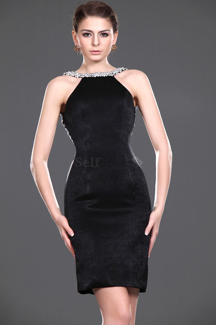 Knee Length Sheath Backless Sleeveless Velvet Spring Natural Waist Bateau Cocktail Dress