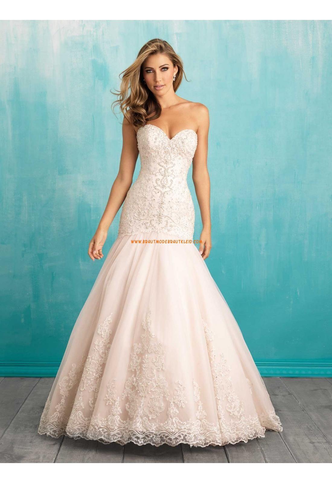 Meerjungfrau Herz-ausschnitt Glamouröse Brautkleider aus Spitze mit ...