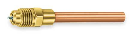 1/4 In. Access Valve Extension Tube,  Connection Size 1/2 In. OD,  Length 2 In.,  Brass/Copper,  For Use With All CFC,  HCFC and HFC Refrigerants,  Package Quantity 3