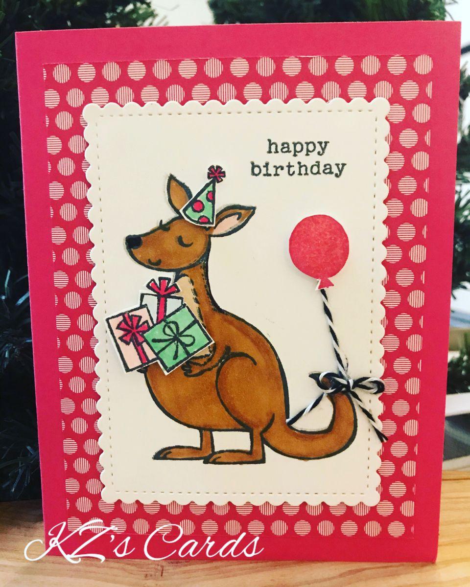Stampin Up Kangaroo Company Kids Birthday Cards Cards Card Making Birthday