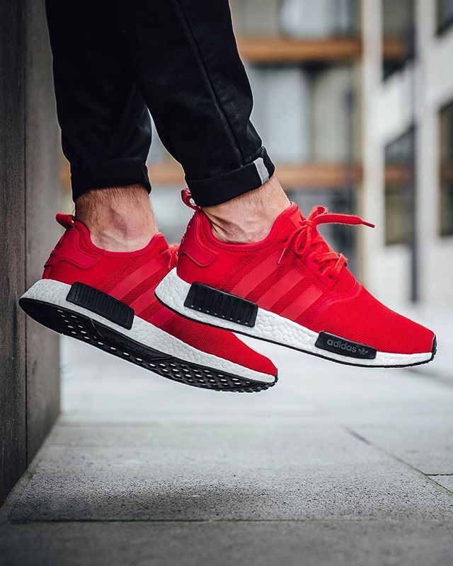adidas red shoes nmd