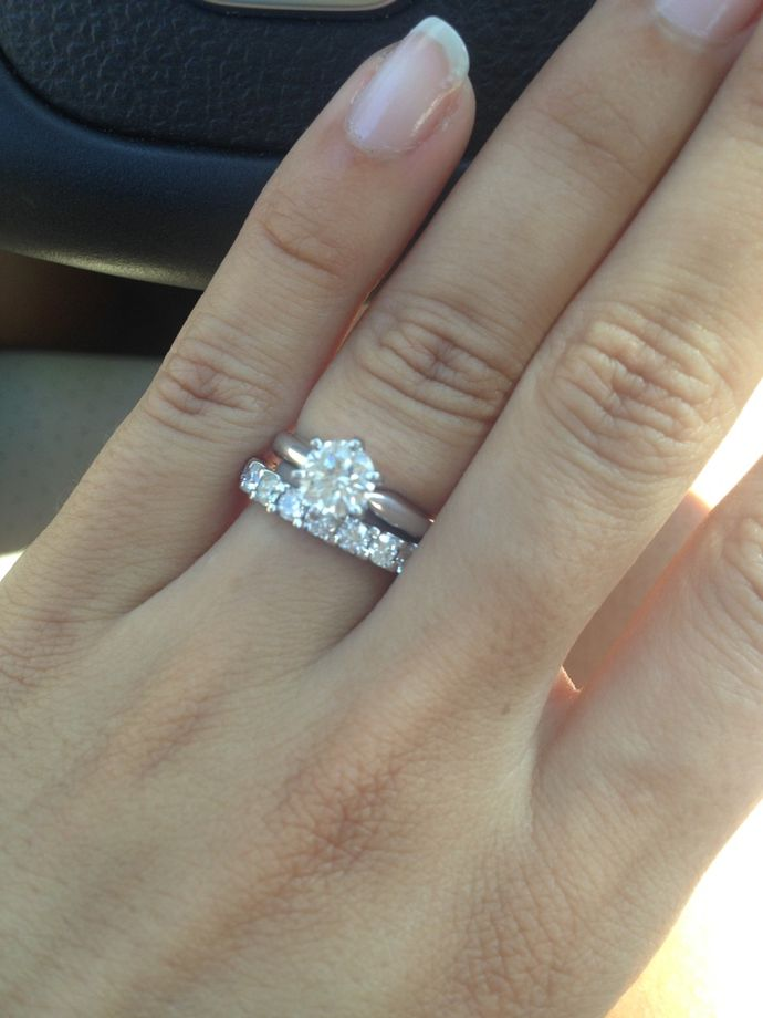 1 carat ering 2.75mm band Show me your solitaire rings ...