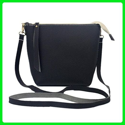 66567e02c6f3 Fashion Stitching Color Handbag Casual HN Women Large Messenger Bag (Black)  - Crossbody bags ( Amazon Partner-Link)