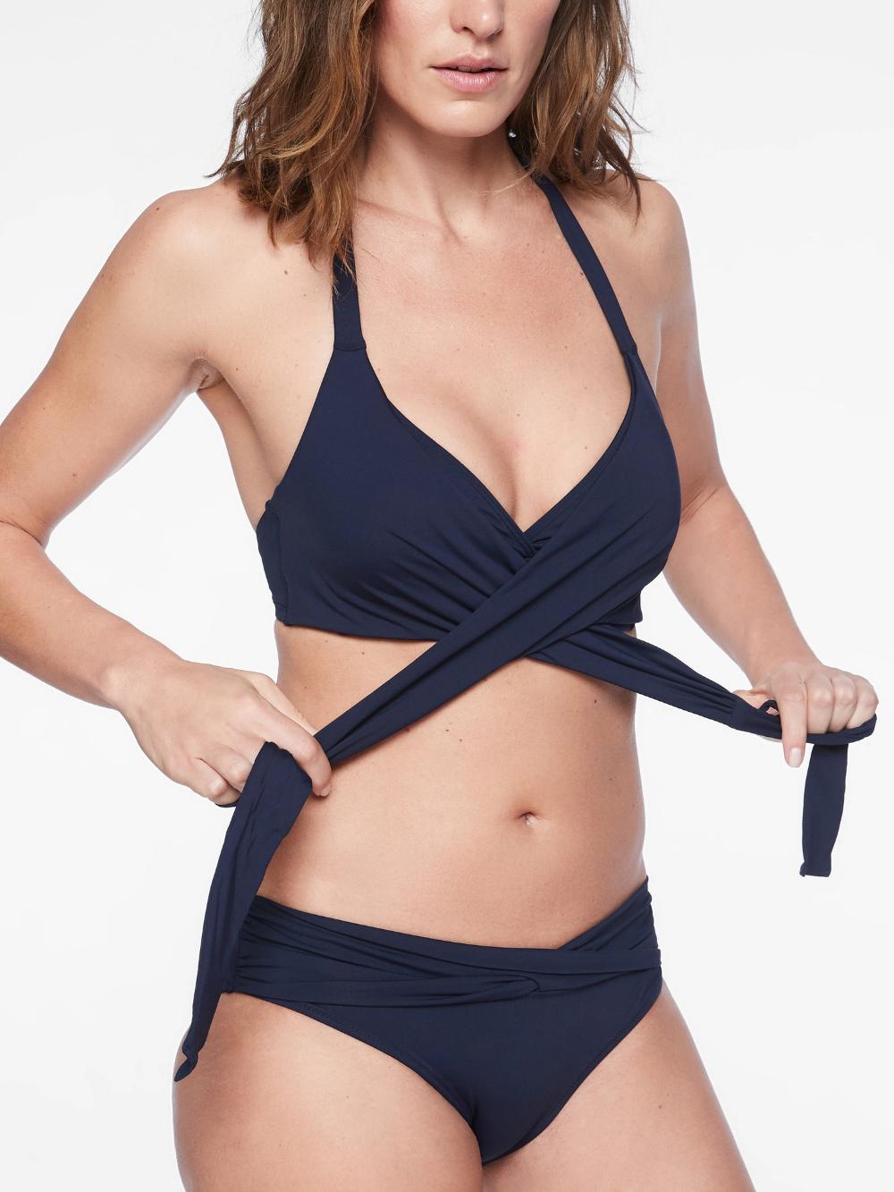 Bra Cup Wrap Halter Bikini Top Athleta Wrap Around Bikini Top Halter Bikini Top Supportive Bikini Top
