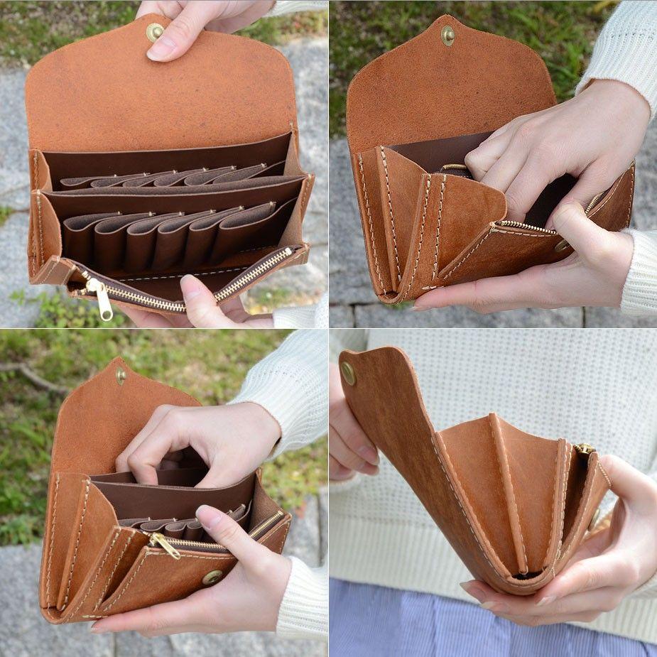 fbc31d09baca 長財布 カード縦入れ財布 フラップ イタリアンレザー プエブロ PUEBLO 本革 日本製 レディース