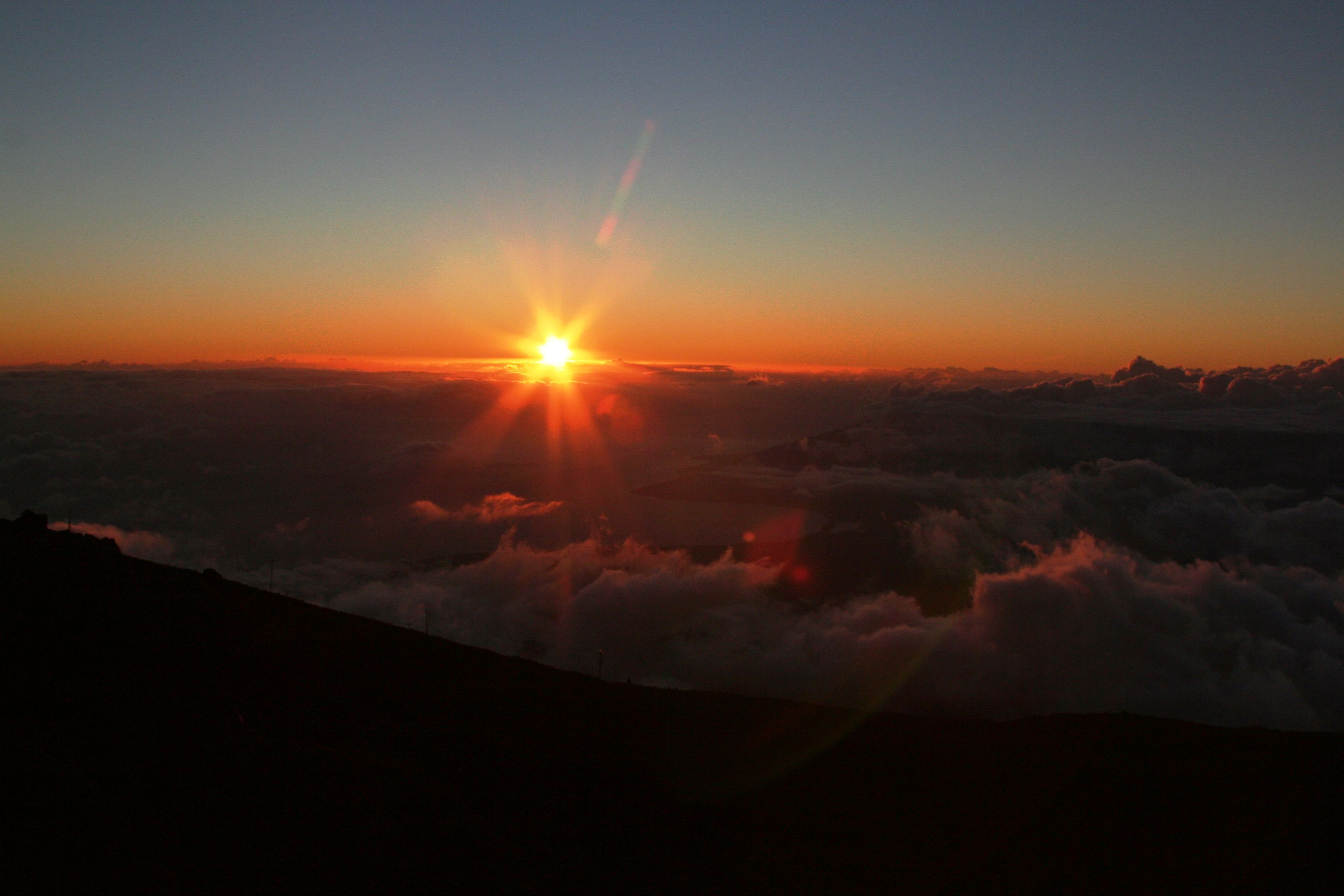 Sunset view from the summit at Haleakala NP, HI