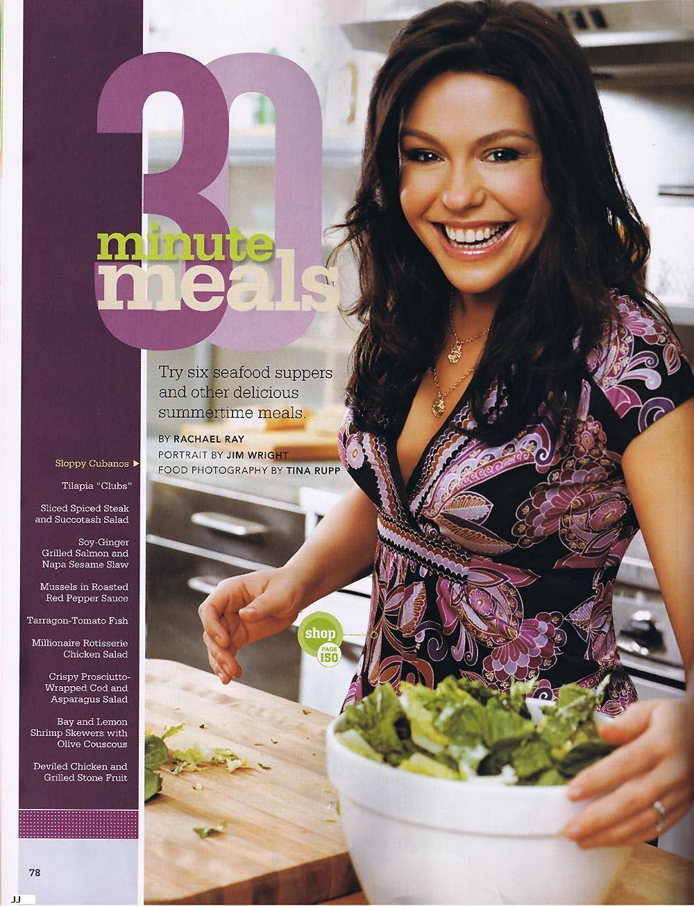 Rachael Ray | Rachael ray, Rachael ray magazine, Famous girls