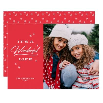 It\u0027s A Wonderful Life Holiday Photo Cards - christmas cards merry