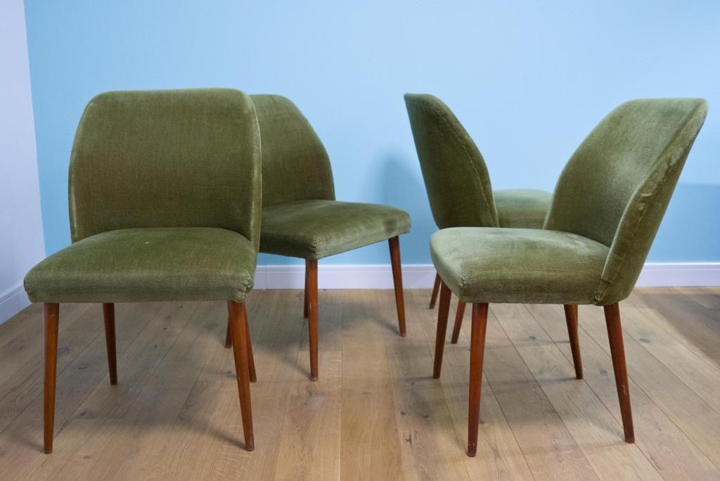 4 X Krzesla Fotele Typ Muszelka Patyczak Prl 4856812692 Oficjalne Archiwum Allegro Dining Chairs Furniture Chair