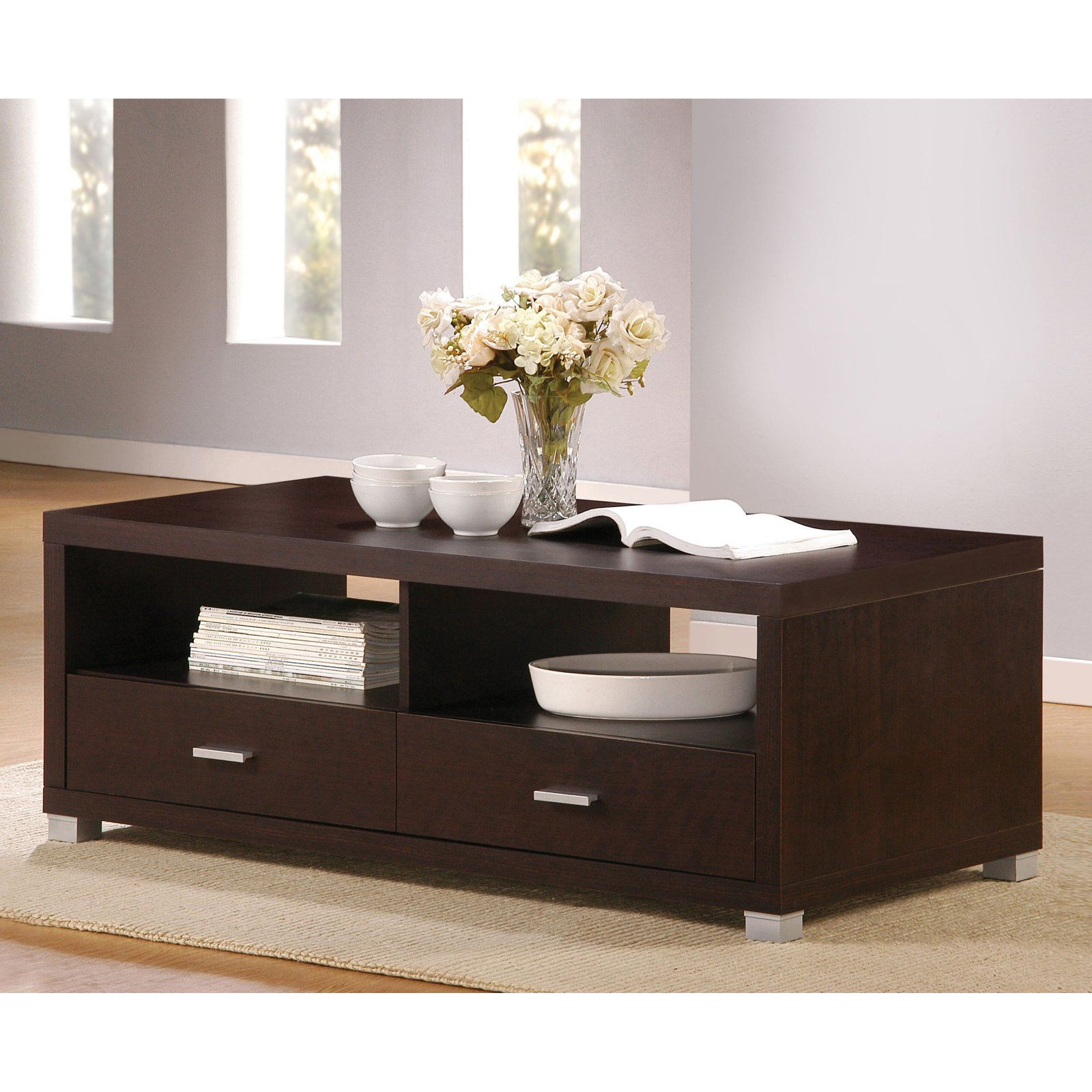 Novel Couchtisch Hamilton Acme Furniture Redland Espresso Coffee Table With 2 Drawers