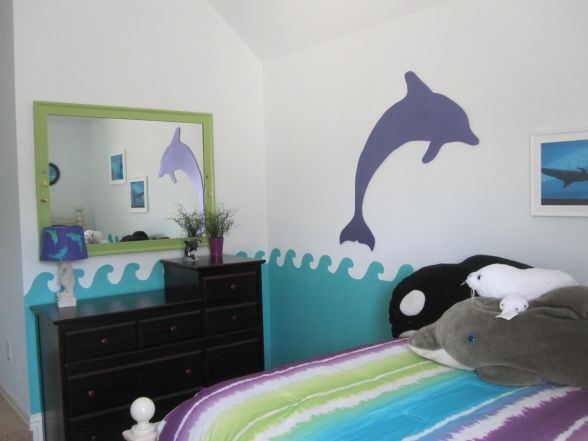 Room Girls, Girl Rooms, Girls Bedroom, Bedroom Decor, Dolphin Bedroom