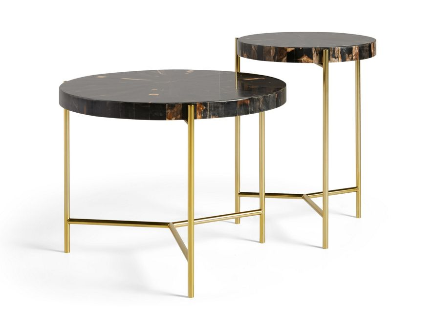Dominique 24 Round Coffee Table Coffee Table Round Wooden