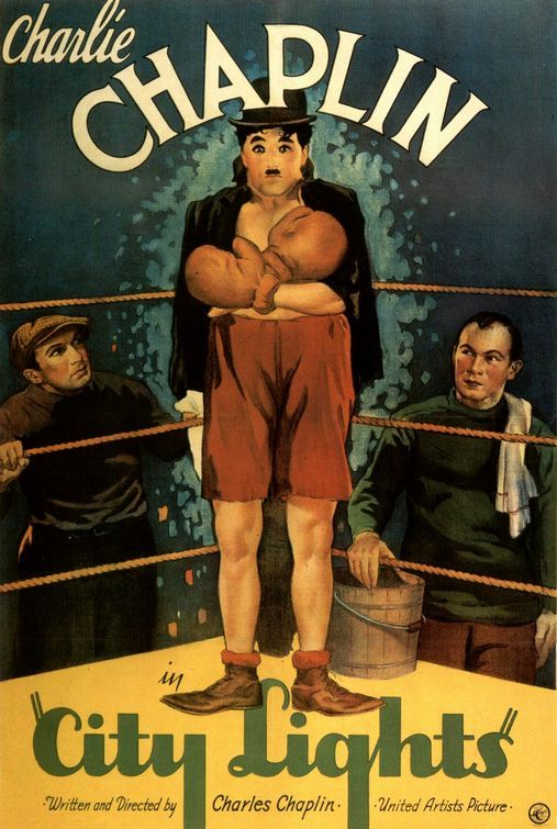 City Lights Vintage Charlie Chaplin Movie Poster 2